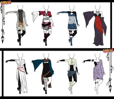 Naruto Adoptable Outfit Set 10 - Closed by Orangenbluete
