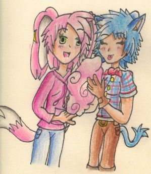 Eating cotton candy by Sarah-Herron