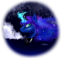 Luna portrait experiment by FushigiOoka