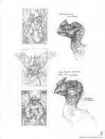 Terrorbird head + thumbnails by MIKECORRIERO