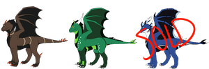 Dragon Adoptables 30 points each *Reduced Prices* by Azuine