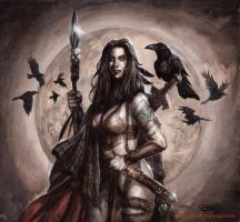 Celtic warrioress by sebastien-grenier