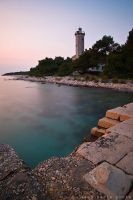 Lighthouse on island Vir II by ivancoric