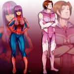 Twilight Sparkle and Peter Parker by JeyraBlue