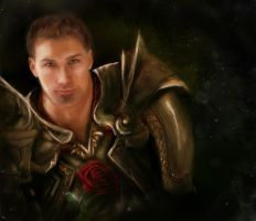 Alistair's Rose Dragon Age by ElegantArtist21