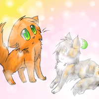 Spottedleaf and Firestar by Kitzophrenic