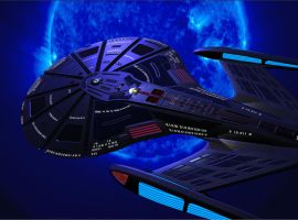 U.S.S. Leviathan, blue star by King-O-the-Goats