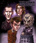 The 3 Doctors... and Davros by PaulGarner