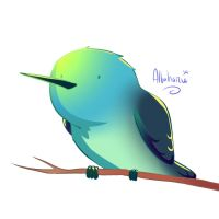 Little hummingbird for Whisperpool338 by Albaharu
