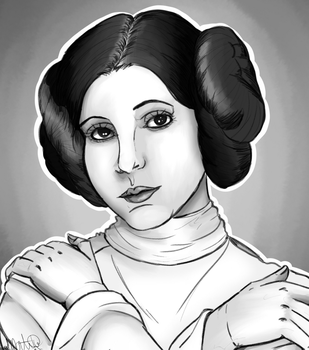 RIP Carrie Fisher by TussyTot