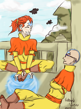 ATLA AU - Clary and Simon by GabsTheChangeling