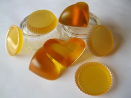 Resin Cast: Yellow Hearts and Yellow Tarts by passbyguy
