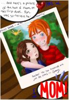 Polaroid: Ron and Hermione by natix