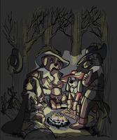 Three Muskehounds by TaijaVigilia