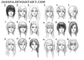 18 hairstyles part 1 by jaoosa