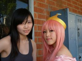 Adventure Time Cosplay: Marceline and Bubblegum 2 by kawaiicelia