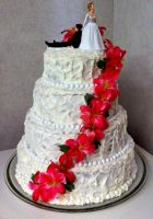 Lovely Wedding Cake by InkArtWriter