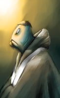 Speedpaint: Fish Monk. by Chuck-Nothing
