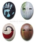 Wooden Masks - Paint Test by Bueshang