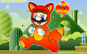 RED FOX MARIO WITH WALLPAPER^^ by HOBYMIITHETACTICIAN