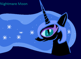 nightmare moon by mysterydragoness