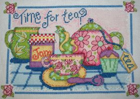 Time For Tea Cross Stitch by Tishounette