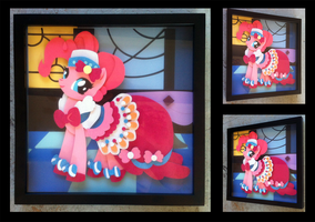 Shadowbox:  Gala Dress Pinkie Pie by The-Paper-Pony