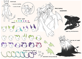 Akuntieur Reference Sheet (closed species) by soo-adopts