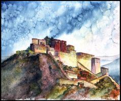 The Potala Palace in Lhasa by AnnaOriona