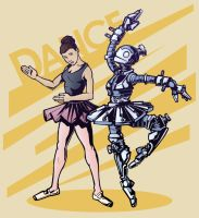 Robot and Dancer by Sku11head