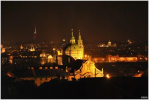 Prague by night by FeeMorghan