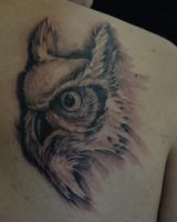 owl tattoo by PaintedPeople