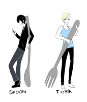 FORKS AND SPOONS by spoontaneous