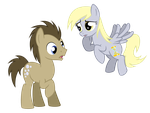 Doctor Hooves And Derpy Whooves by Arceus55