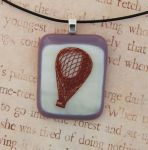 Hot Air Balloon Fused Glass Pendant by FusedElegance