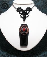 In Memoriam Coffin Necklace by Gloomyswirl