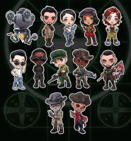 Companions of the Commonwealth - Fallout 4 Chibis by ghostfire