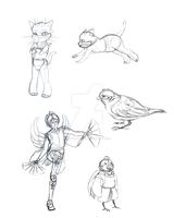 WIPs and Sketches1 by sayuri-chan86