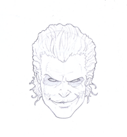 joker head sketch by MIKE-RAYN3R