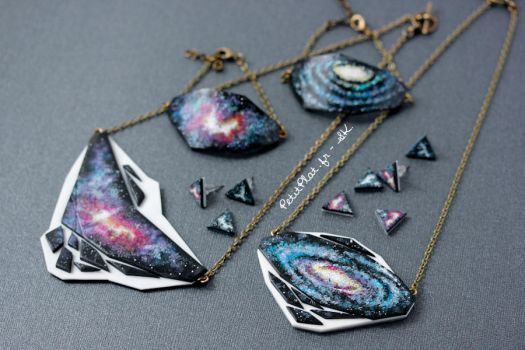 Geometry + Galaxy Jewelry by PetitPlat