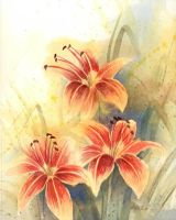 Impression of Day Lilies by KelliRoos