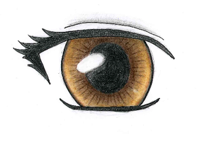 Manga eye colouring by Ka-Rei