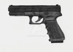 9mm Glock 17 Pistol by stopsigndrawer81