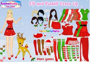 .: Elf and Rudolf DressUp :. by tanya1