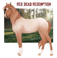 Red Dead Redemption foal ref by fuye