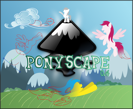 Ponyscape splash page proposition by Stabzor