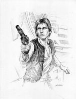 Han Solo Star Wars Drawing by Stungeon
