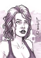 TWD Maggie Greene ACEO by micQuestion