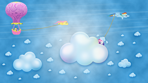 Chasing Rainbow Dash wallpaper by JamesG2498