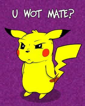 Perturbed English Pikachu by deadcal